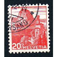 30: Швейцария, почтовая марка, 1936 год, номинал 20с, SG#375A