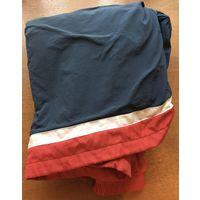 Детская новая хлопковая тёплая осенняя ремонтная автослесарная сине-фиолетовая красно-белая с узором-полоской красивыми детскими рисунками блестящая светящаяся куртка для мальчика от 16 до 18 лет