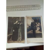 Кавалер и дама, две фотографии