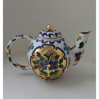 Заварной чайник. Заварник.Бронза. Эмаль Клуазоне. Китай 20 век