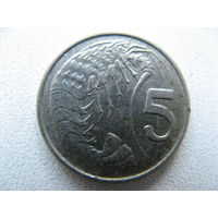 Каймановы острова 5 центов 1990 г.