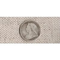 Великобритания 3 пенса 1898 Виктория(Sp)