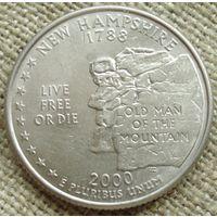 25 центов 2000 США - Нью Гэмпшир