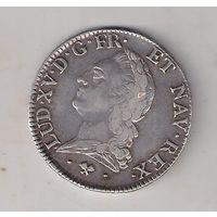 Монета ГЕРМАНИИ  LUD XV 1774г отличное состояние РЕДКАЯ