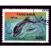 1 марка 1994 год Танзания Дельфин 1780
