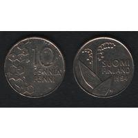 Финляндия km65 10 пенни 1994 год (M) (h01)