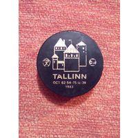Шайба 1983 СССР TALLINN Таллинн хоккей знак качества