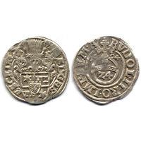 Грошен (1/24 талера) 1604, Германия, Шлезвиг-Гольштейн-Шауэнбург, Эрнст III, Коллекционное состояние