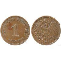 YS: Германия, Рейх, 1 пфенниг 1916E, KM# 10