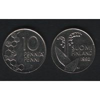 Финляндия km65 10 пенни 1993 год (M) (f33)(b04)n*