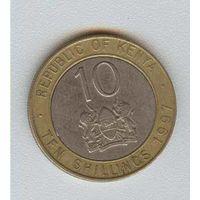 10 Шиллингов 1997 (Кения) биметалл