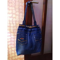 Джинсовая сумка-шоппер