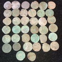 Крестинки , солиды и др. серебро 38 шт. с рубля