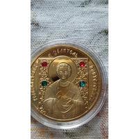 Монета 50 руб. 2008г. с изображением иконы и с цветными камнями. 5.  распродажа