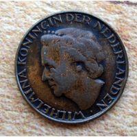Нидерланды. 1 цент 1948 г.