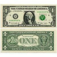 США. 1 доллар (образца 2009 года, H, Миссури, P529, UNC)