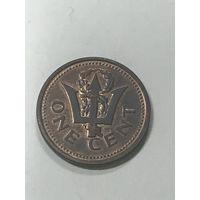 1 цент, 1999 г., Барбадос