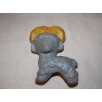 Баран, овен - резиновая игрушка СССР, пищалка, старая резина