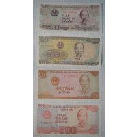 Вьетнам 200, 500, 1000, 2000 донг.