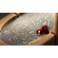 """Острова Кука 5 долларов 2011г. """"Зарождение любви"""". Монета в подарочном зеркальном футляре; сертификат; коробка. СЕРЕБРО 15,5гр."""