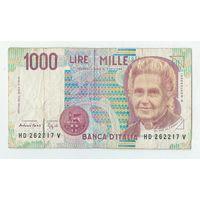 Италия, 1000 лир 1990 год.