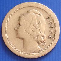 """Гвинея - Бисау. """"Португальская"""" 20 сентаво 1933 год КМ#3   Тираж: 350.000"""