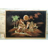 Картина ручной работы на черном бархате. Египет