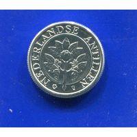 Антильские острова 1 цент 2001 UNC