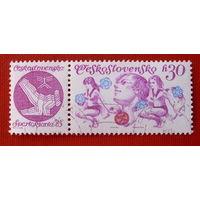 Чехословакия.  ( 1 марка ) 1975 года.