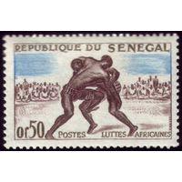 1 марка 1961 год Сенегал Борьба 245