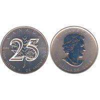 Канада 5 долларов 2013. 1 унция. 25 летие