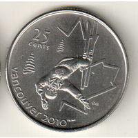 Канада 25 цент 2008 XXI зимние Олимпийские Игры, Ванкувер 2010 Фристайл