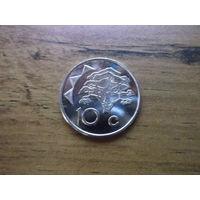 Намибия 10 центов 2009