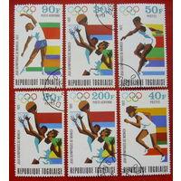 Того. Спорт. ( 6 марок ) 1972 года.