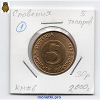 Словения 5 толаров 2000 года - 1