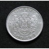 Румыния 200 лей 1942 серебро