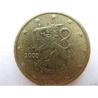 Финляндия 50 евроцентов 2000г.