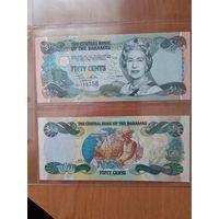 Багамские о-ва 50 центов (1/2 доллара) 2001 года UNC .