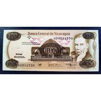 РАСПРОДАЖА С 1 РУБЛЯ!!! Никарагуа 100000 кордоб надпечатка на 500 кордоб 1987 год UNC