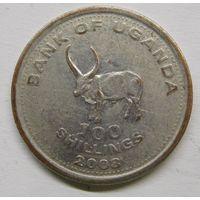 Уганда 100 шиллингов 2008 г