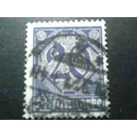 Германия 1920 служебная марка 26