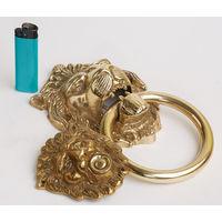 Дверная ручка на калитку+звонок бронза