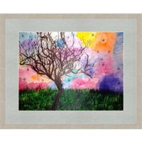 Картина  Одинокое дерево