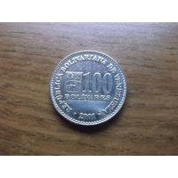 Венесуэла 100 боливар 2001 (2)