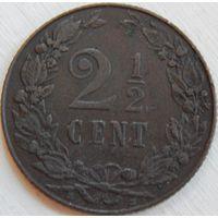 4. Нидерланды 2 1/2 цента 1905 год