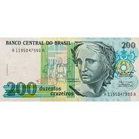 Бразилия 200  крузеро 1990 год UNC