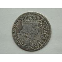 6 грошей  1661 г GB.A. кране редкий R-4 ( шестигрошовик )
