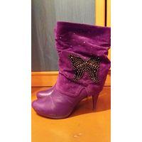 Красивые фиолетовые сапожки 37