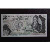 Колумбия 20 песо 1983 UNC
