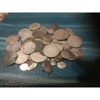Монеты вкл, ри,  СССР, чешуя, всех 50шт.